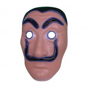 LED-Maske Haus des Geldes Leuchtmaske Partymaske Karneval Gesichtsmaske Fastnacht