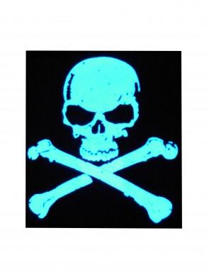 Ultimatives LED T-Shirt (Männer) mit EL Panel Motiv Piratenflagge