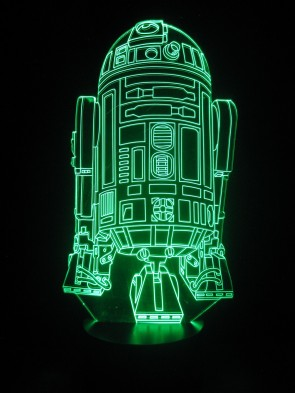 originelle 3D Lampe R2D2