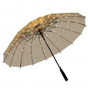 durchsichtiger LED Regenschirm transparent