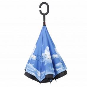 umgedrehter Regenschirm Himmel Stockschirm mit C-Griff doppellagig Sturmfest Windsicher