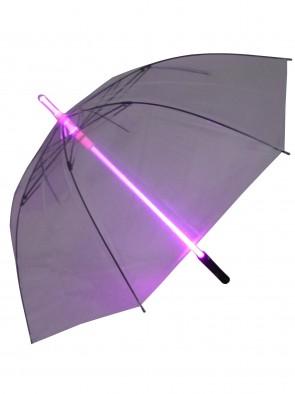 Led Regenschirm (lila,Perspektive kompakt)