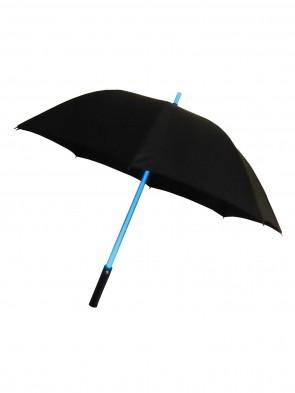 leuchtender LED Regenschirm Schwarz  RGB Farbwechsel Laser-Licht Stockschirm mit Taschenlampe