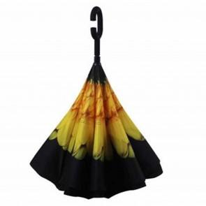 Regenschirm umgedreht Sonnenblume Stockschirm doppellagig Sturmfest Windsicher