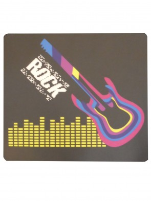 LED T-Shirt aus Baumwolle mit elektronischem Leuchtpanel; Motiv: Rock Gitarre-Live Music-Magic Guitar