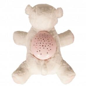 LED Kinderzimmer Lampe Schaf Weiß mit Sternenhimmel Musik Plüschtier Einschlafhilfe
