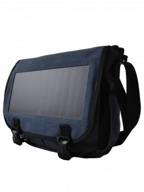 Umhängetasche-Messenger Bag mit Solar Panel für Laptop, Smartphone, Unterlagen