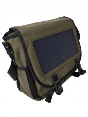 Umhängetasche-Messenger Bag mit Solar Panel zum Aufladen von elektronischen Geräten