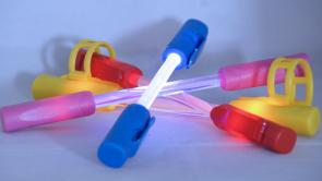 "LED-Fahrrad Leuchtstab  ""Radiant Glow"" Fahrradrakete/Streulicht Rot"