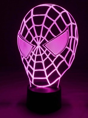 originelle 3D LED-Lampe Wohnlicht Multicolor Nachttischlampe Tischlampe Tischleuchte Kinderzimmer Motivleuchte rote Maske