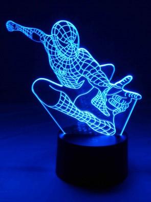 originelle 3D LED-Lampe Mehrfarbenlicht Tischlampe Wohnlicht Tischleuchte Kinderzimmerlampe Nachttischlampe Motivlampe Superheld