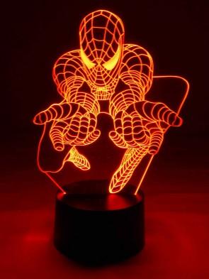 originelle 3D LED-Lampe Tischlampe Kinderlampen Kinderleuchte Kinderzimmerlampe Wohnlicht Farbwechsel Motivlampe Motivleuchte Superheld