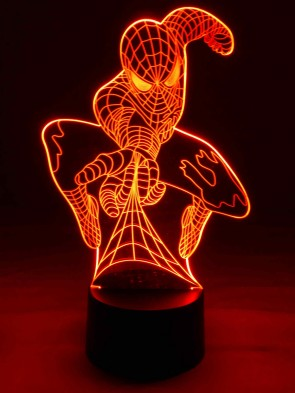 originelle 3D LED-Lampe Tischlampe Kinderlampe Kinderleuchten Kinderzimmerlampe Wohnlicht Farbwechsel Motivlampe Comic Superheld