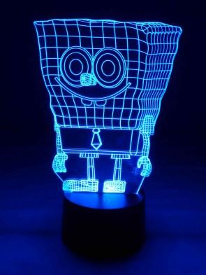 originelle 3D LED-Lampe Kinderzimmer Tischlampe Kinderzimmerlampe Wohnlicht Nachttischlampe Farbwechsel Motivlampe