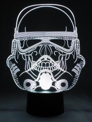 originelle 3D LED-Lampe Nachtlicht Tischlampe Farbwechsel-Licht Wohnlicht Motivlampe Science-Fiction