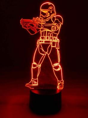 originelle 3D LED-Lampe Mehrfarben Wohnlicht Nachttischlampe Kinderzimmerlampe Tischlampe Tischleuchte Motivleuchte Roboter