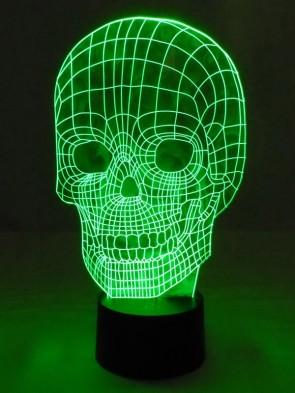 originelle 3D LED-Lampe Totenkopf Nachttischlampe Skull Toten-Schädel Farbwechsel