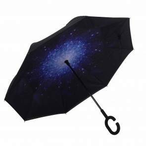 Upside Down Regenschirm Motiv Himmel