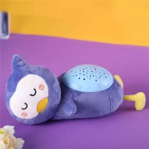 LED Lampe Kinderzimmer Pinguin Kuscheltier Sternenhimmel Musik Plüschtier Einschlafhilfe