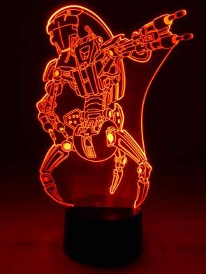 originelle 3D LED-Lampe Mehrfarben-Tischlampe Tischleuchte Wohnlicht Wohnzimmer Kinderzimmer Motivlampe Kampf-Droide