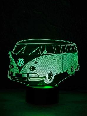 originelle 3D LED-Lampe VW Bus T1 Wohnlicht Tischlampe Tischleuchte Nachttischlampe Motivlampe
