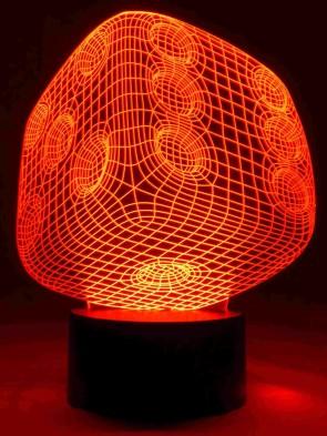 originelle 3D LED-Lampe Würfel Multicolor Farbwechsellicht Wohnzimmerlampen