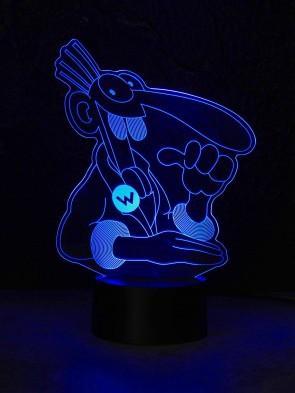 originelle 3D LED-Lampe Designer-Leuchte Comic  Farbwechsel Tischleuchte Tischlampe Show-Effekt Motorradfahrer Clubhaus