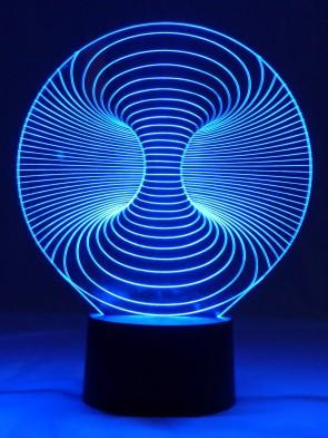 Originelle 3D LED-Lampe Wirbelsturm Designerlampe Tischlampe Wohnzimmer Wohnlicht