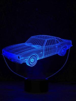 originelle 3D LED-Lampe Farbwechselleuchte Wohnlicht Tischlampe Tischleuchte Nachttischlampe Motivlampe Camaro