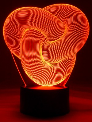 originelle 3D LED Designerlampe Magischer Ring verzaubert und entspannt im Wohnzimmer
