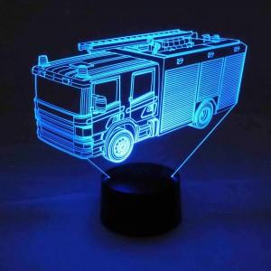 originelle 3D LED-Lampe Feuerwehr Farbwechselleuchte Wohnlicht Tischlampe Tischleuchte Nachttischlampe