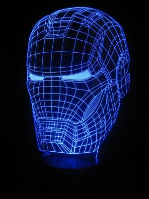 originelle 3D LED-Lampe Iron Man Superheld Wohnlicht Tischlampe Nachtlicht Kinderlampen Kinderleuchte Kinderzimmer-Lampe