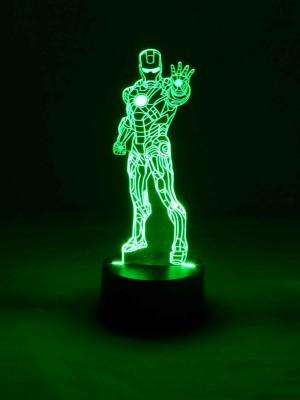 originelle 3D LED-Lampe Iron Man Tischlampe Nachttischlampe Farbwechsel Wohnlicht Tischleuchte Motivlampe Superheld