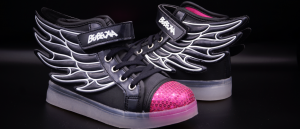 LED Flügel Schuhe Schwarz  (Damen; Mädchen)