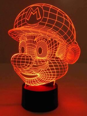 originelle 3D LED-Lampe Mario Farbwechsellicht Online Gamer Wohnlicht Nacht-Tischlampe Kinderzimmer-Lampen