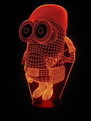 originelle 3D LED-Lampe Nachttischlampe niedliche Kinderleuchte Kinderzimmerlampe Wohnlicht Tischlampe Tischleuchte