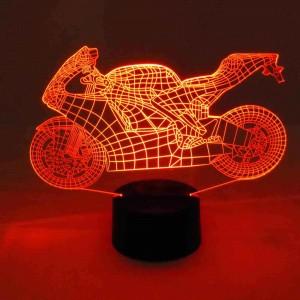 originelle 3D LED-Lampe Naked Bike Farbwechsel Tisch-Leuchte Tischlampe Show-Effekt Motorradfahrer Clubhaus