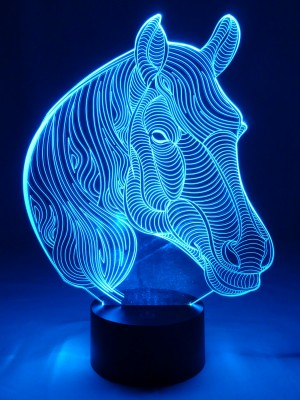 originelle 3D LED-Lampe Pferd Farbwechsellicht für Reitschulen Pferd Reiter