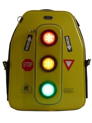 Kinder-Schulranzen für Grundschule mit LED Sicherheitsbeleuchtung und Blinklicht
