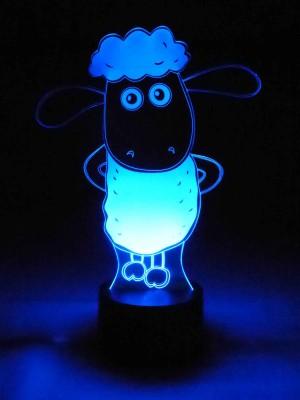 originelle 3D LED-Lampe Shaun das Schaf Nachttischlampe Tischleuchte Wohnlicht Farbwechsel Nachtlicht