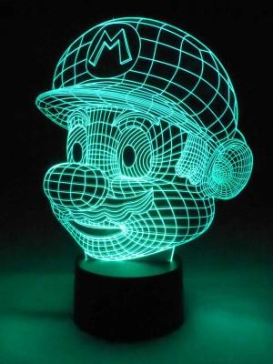 originelle 3D LED-Lampe Super Mario RGB Farbwechsellicht Wohnlicht für Spiele Online-Gamer