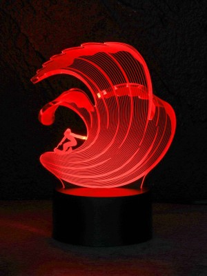 originelle 3D LED-Lampe Farbwechselleuchte  Wohnlicht Tischlampe Tischleuchte Nachttischlampe Motivlampe Surfer