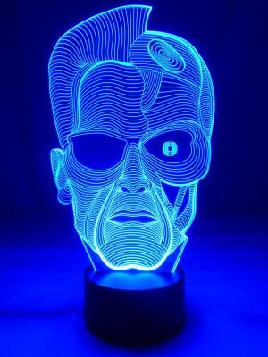 originelle 3D LED-Lampe Terminator,Arnold Schwarzenegger in 7 Leuchtfarben