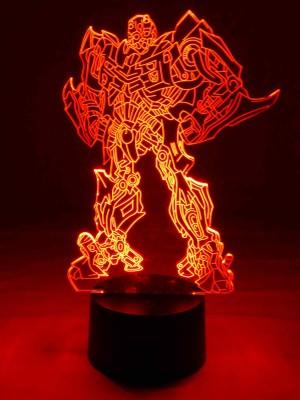 originelle 3D LED-Lampe Transformers Wohnlicht Tischlampe Nachttischlampe Tischleuchte Kinderzimmerlampe Motivlampe