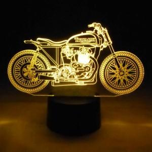 originelle 3D LED-Lampe Triumph Motorrad Biker Farbwechsel Tischleuchte Tischlampe Show-Effekt Clubhaus