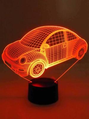 originelle 3D LED-Lampe Farbwechselleuchte  Wohnlicht Tischlampe Tischleuchte Nachttischlampe Motivlampe Beetle