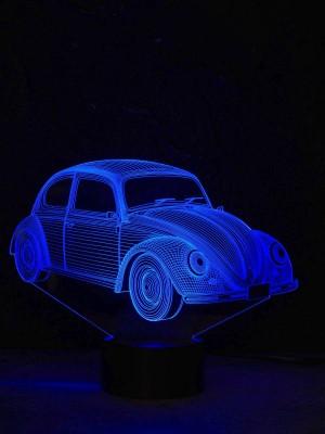 originelle 3D LED-Lampe Farbwechselleuchte  Wohnlicht Tischlampe Tischleuchte Nachttischlampe Motivlampe VW Käfer
