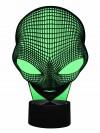 originelle 3D LED-Lampe Alien, außerirdischen Bewohner im Wohnzimmer