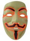 LED-Maske Vendetta Leuchtmaske Partymaske Karneval Gesicht-Maske Fastnacht
