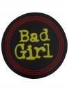 """LED T-Shirt aus Baumwolle Schwarz mit Leucht-Motiv """"Bad Girl""""  originelles  outfit für Mädchen, Frauen in Größe S, M, L, XL, XXL, XXXL"""